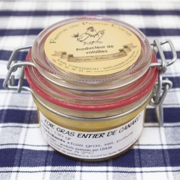 Foie gras entier de canard 130g
