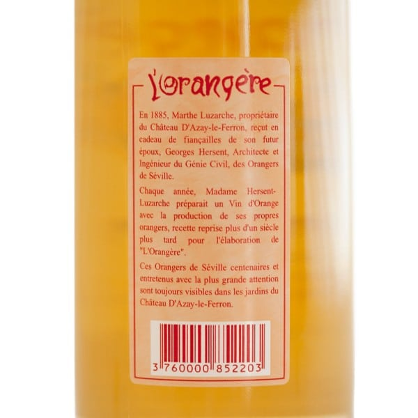 Vin d'apéritif à l'orange douce l'Orangère