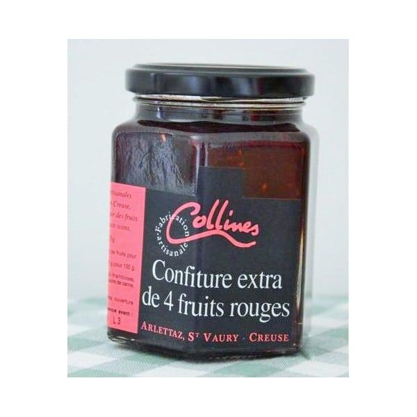 confitures 4 fruits rouges