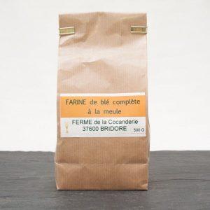 Farine de blé complète à la meule