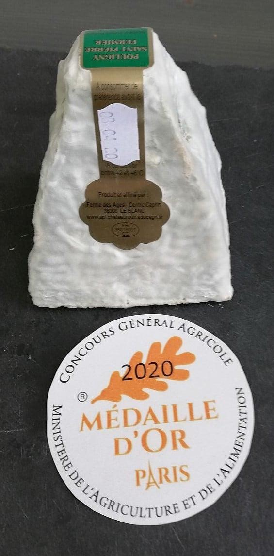 Pouligny Saint Pierre AOP ferme des Ages médaille d'or 2020 concours général agricole