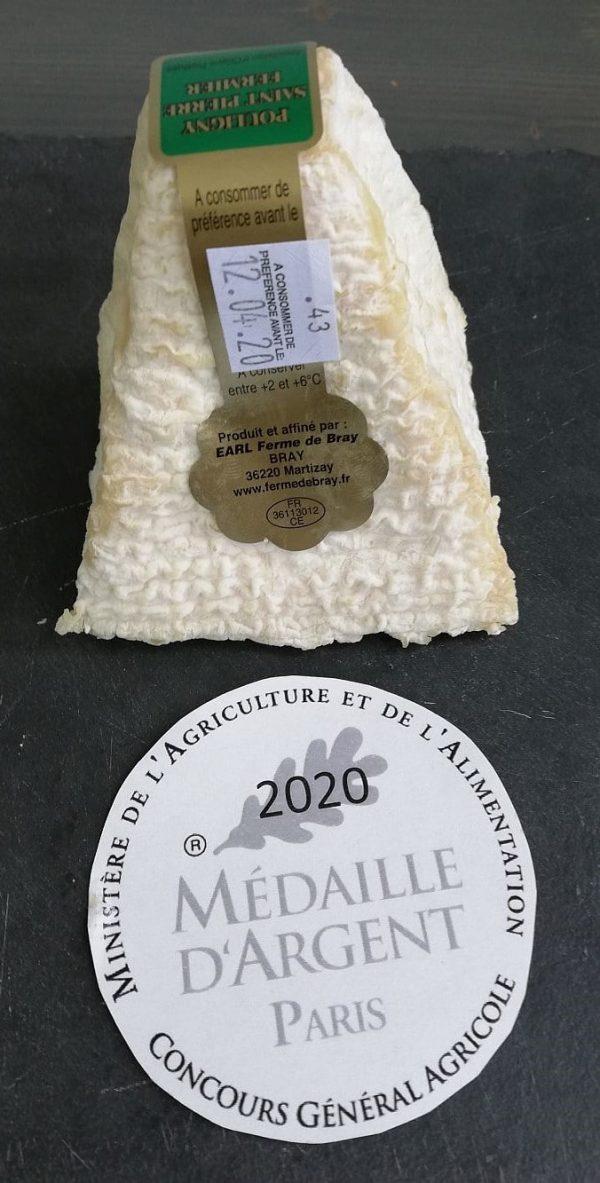 Pouligny fermier AOP ferme de Bray médaille d'argent 2020 concours général agricole